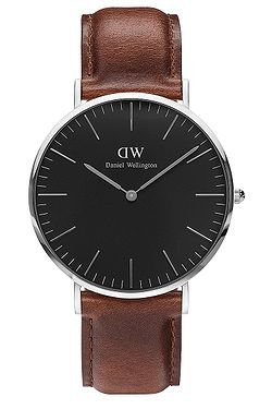 706813ccd8c hodinky Daniel Wellington St.Mawes Classic Black 36 - Silver