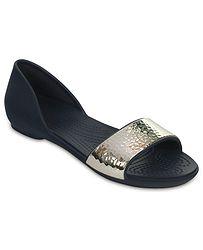 bf04b9fa22a boty Crocs Lina Embellish Dorsay Flat - Navy Silver
