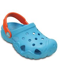 0f683d29749 dětské boty Crocs Swiftwater Clog - Electric Blue Tangerine