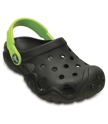 dětské boty Crocs Swiftwater Clog - Black Volt Green  a78dbdd589