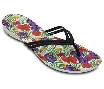 žabky Crocs Isabella Graphic Flip - Black Floral - boty-boty.cz ... d6735a0140