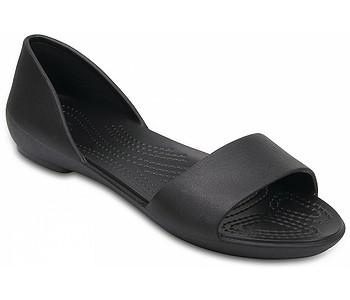9662db64d1a6 boty Crocs Lina Dorsay Flat - Black - boty-boty.cz - doprava zdarma