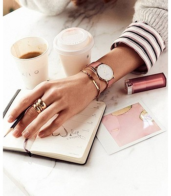 hodinky Rosefield The West Village - Gold White Bubblegum Pink ... 4981ca94d4