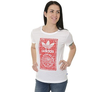 589dde3f2306 TRIČKO ADIDAS ORIGINALS TONGUE LABEL SLIM - WHITE - skate-online.sk
