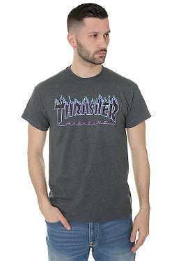 T-shirt Thrasher Flame Logo - Dark Heather
