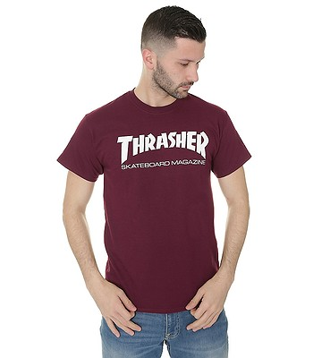 d9bd67176320 T-Shirt Thrasher Skate Mag - Maroon - blackcomb-shop.eu
