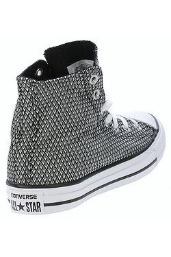 ... topánky Converse Chuck Taylor All Star Woven Hi -  555853 White Black White 3998b0ce4c3