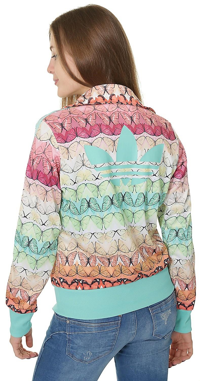 Giacca adidas originali borbofresh firebird tricot multicolore