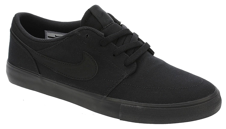 shoes Nike SB Portmore II Solar Canvas - Black/Black - blackcomb ...