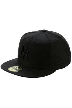 kšiltovka New Era 59F Basic Black On Black MLB New York Yankees - Black