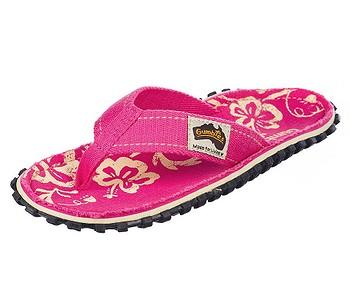 žabky Gumbies Islander - Pink/Hibiscus
