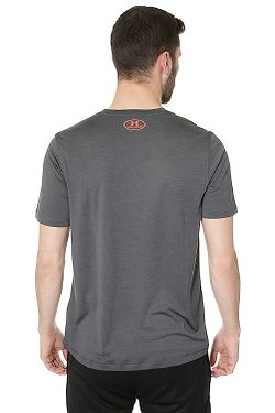 1ba087e7e43 ... tričko Under Armour Tech V-Neck - 010 Stealth Gray Phoenix Fire