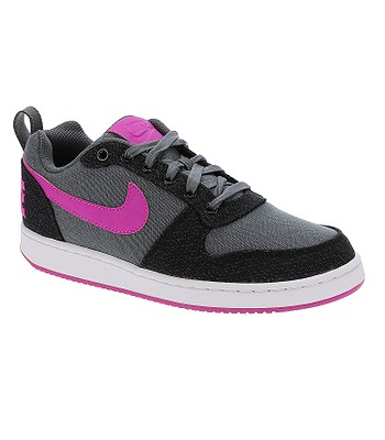 1234450dcace buty Nike Court Borough Low Premium - Dark Gray Fire Pink Black White