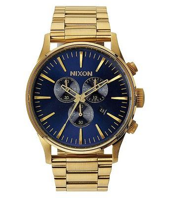 2a212a0cc hodinky Nixon Sentry Chrono - Gold/Blue/Sunray | Blackcomb.cz