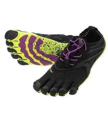boty Vibram Fivefingers V Run - Black Yellow Purple  dee341afe9