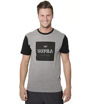 59778188636c T-shirt Supra International Colorblock - Gray Heather Black -  snowboard-online.eu