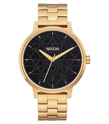 hodinky Nixon Kensington - Gold Black Stamped - snowboard-online.sk 3984ca19ab3