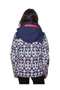 ... dětská bunda Roxy Flicker - BSQ9 Geofluo Blue Print 5069d763020