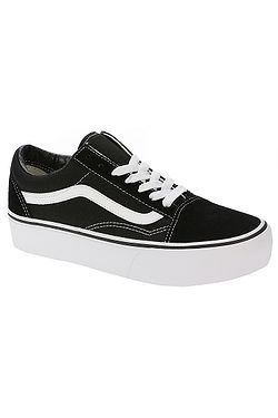 boty Vans Old Skool Platform - Black White f5da1271ca