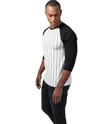 tričko Urban Classics Contrast 3 4 Baseball TB1567 - White Black ... 9fc78e96583