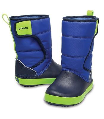 detské topánky Crocs Lodge Point Snow Boot - Blue Jean Navy ... 43ff8943367