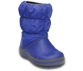 boty Crocs Winter Puff Boot - Cerulean Blue Light Gray - boty-boty ... 24c6726aae