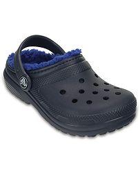 0aaa38f41cf boty Crocs Classic Lined Clog - Navy Cerulean Blue