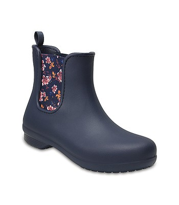 boty Crocs Freesail Chelsea Boot - Navy Floral  5cfe14eac7