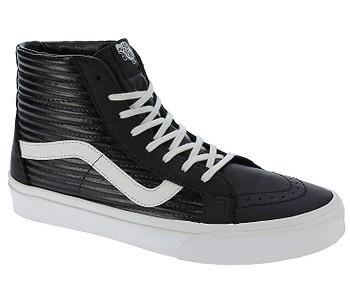 boty Vans Sk8-Hi Reissue - Moto Leather Black Blanc De Blanc - boty-boty.cz  - doprava zdarma a6d8f230998