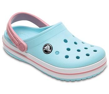 Pantofle · Crocs. dětské. boty Crocs Crocband Clog - Ice Blue White bb0275eb37