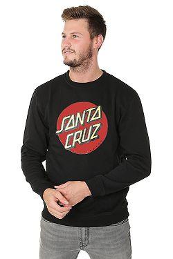 mikina Santa Cruz Classic Dot Crew - Black 7b2582d4727