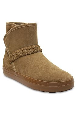 boty Crocs Lodgepoint Suede Bootie - Hazelnut ... 2ab5efed9d