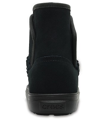 45a76d34e topánky Crocs Lodgepoint Suede Bootie - Black | blackcomb.sk