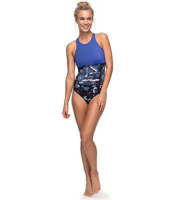 8550a0052399b swimwear Roxy Keep It Roxy Fashion One Piece - KVJ6/Anthracite Blur Paint.  No longer available.