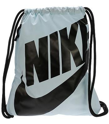 855523021 sack Nike Heritage Gymsack - 413/Glacier Blue/Black/Black -  snowboard-online.eu