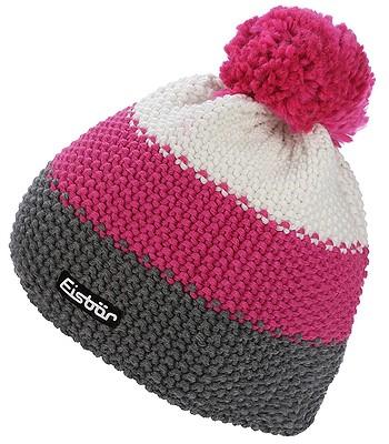 adf92dbf2 czapka Eisbär Star Pompon MÜ - 407/Anthracite/Pitti Pink/White ...