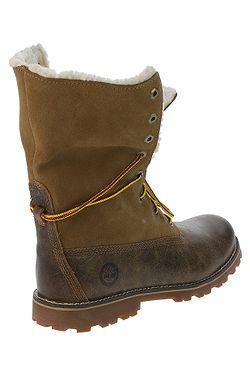 ... boty Timberland Authentics 6 Waterproof Faux Fur Boot - A1BXZ Medium  Brown Full-Grain a448f64b0db