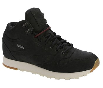 538a8daa10ce1 pánske. topánky Reebok Classic Leather Mid GTX Thin - Black/Paperwhite/Gum