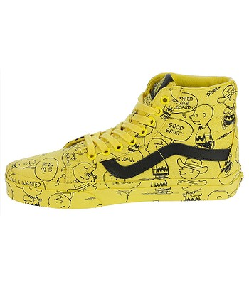 73025b6f40d shoes Vans Sk8-Hi Reissue - Peanuts Charlie Brown Maize - blackcomb ...