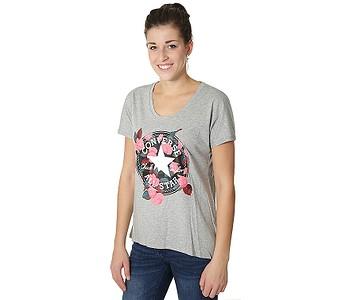 b05a96b2397 dámske. tričko Converse Floral CP Femme 10004655 - A03 Vintage Gray Heather
