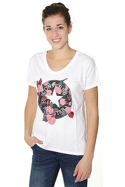ba415f68b5b2 tričko Converse Floral CP Femme 10004655 - A02 White ...