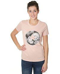 350d6c47d7 tričko Converse Floral CP Fill Crew 10004602 - A01 Dusk Pink