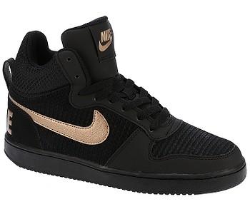 boty Nike Court Borough Mid Premium - Black Metalic Red Bronze Black - boty- boty.cz - doprava zdarma 949e713162
