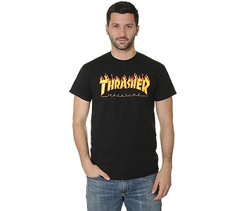 tričko Thrasher Flame Logo - Black