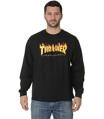 7adb5cc0df4b T-shirt Thrasher Flame Logo LS - Black - blackcomb-shop.eu