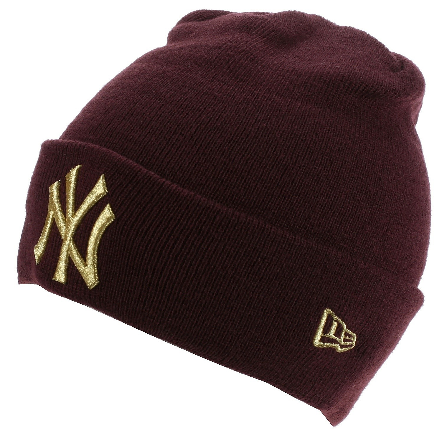 buy online 623da f74da ... best price beanie new era ess cuff knit mlb new york yankees maroon  gold 906ff 0b982