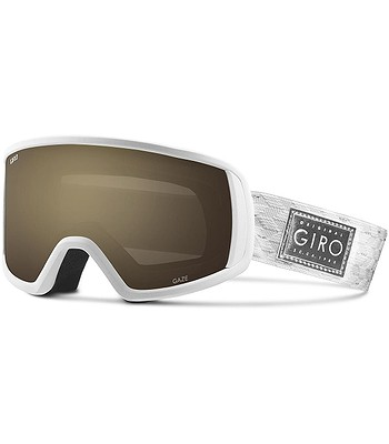 okuliare Giro Gaze - White Silver Shimmer Amber Gold - snowboard ... 20edc6ecc81