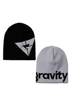 čiapka Gravity Logo Revesible - Black Gray 3611f12e5b2
