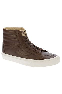 topánky Vans Sk8-Hi Reissue - Lux Leather Shaved Chocolate Porcini ac26fb72fde