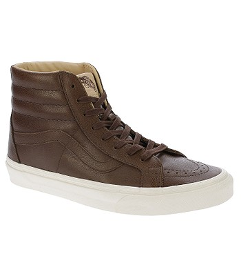 a010fa9279a shoes Vans Sk8-Hi Reissue - Lux Leather Shaved Chocolate Porcini -  snowboard-online.eu